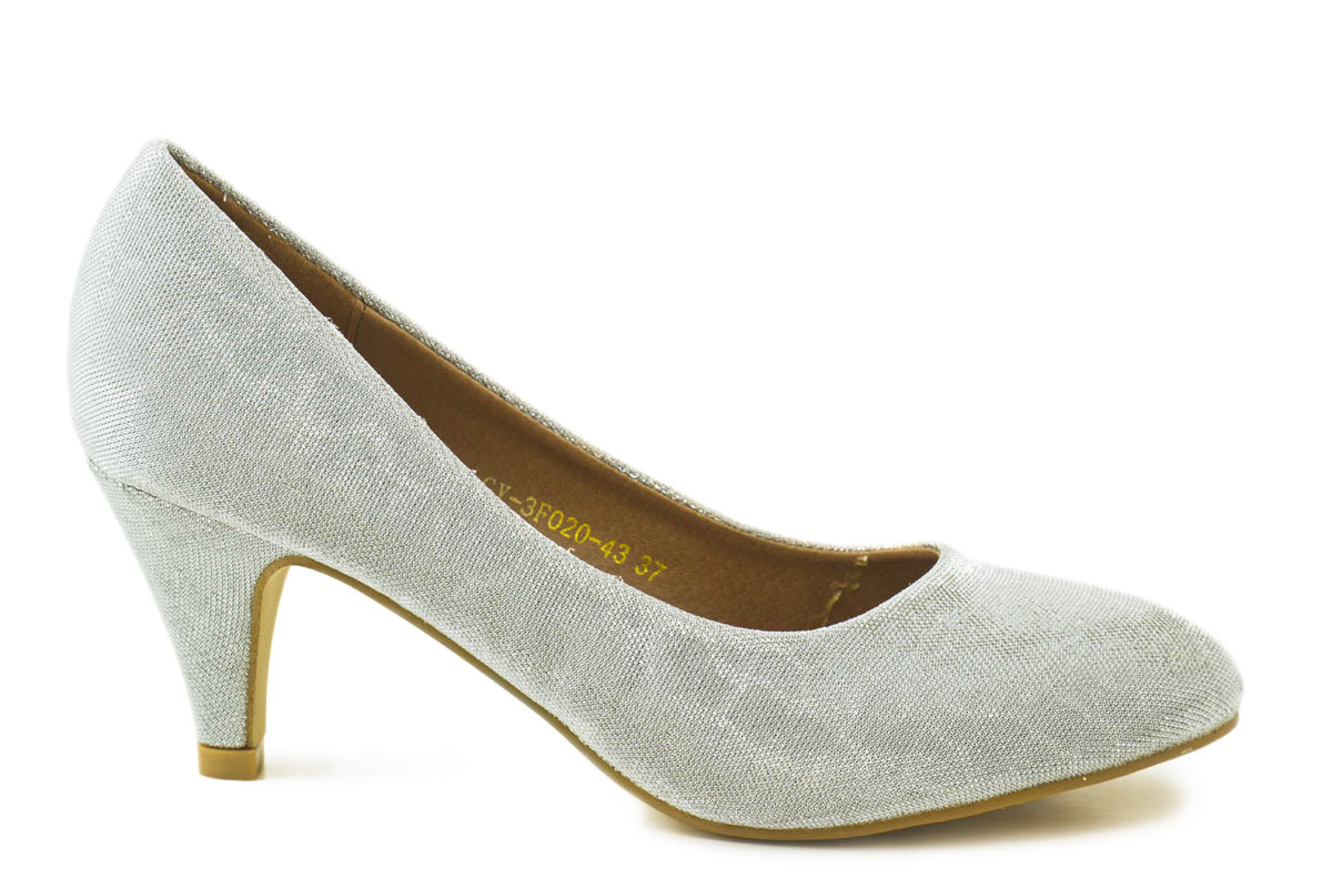 c541e4c800bb6 Zapato salón glitter plata