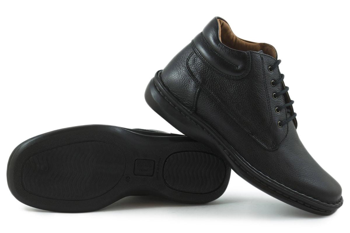 Bota piel confort negra