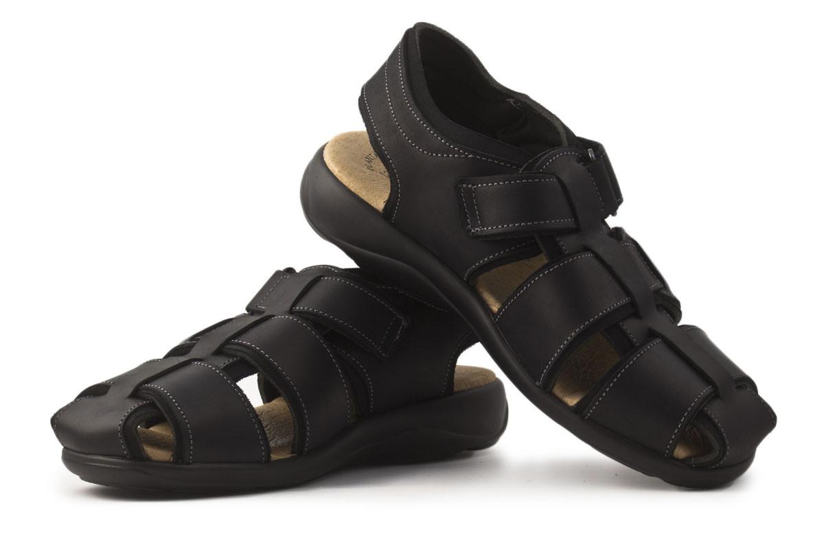 Sandalia trekking piel negro