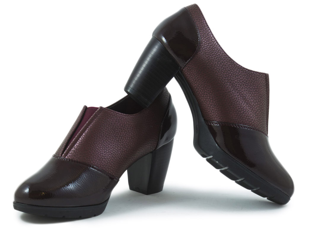Zapato tacón combinado