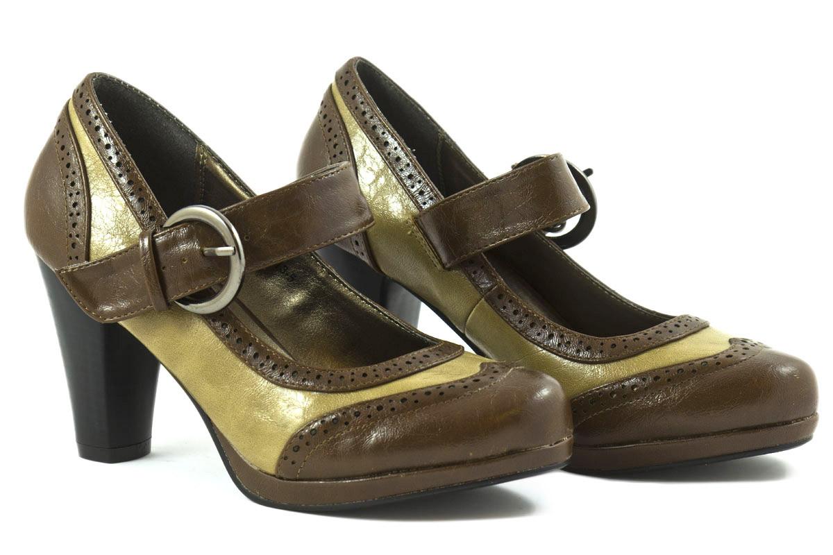 Zapato tacón marrón